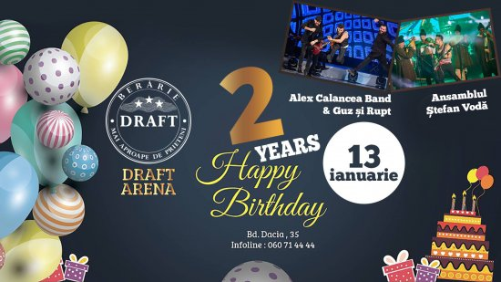 2 Years - DRAFT ARENA. Happy Birthday Party! 13.01.2018