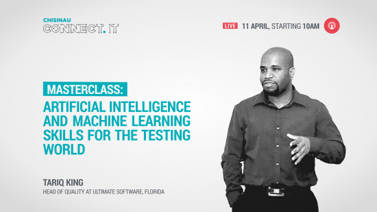 Live: Tariq King. Masterclass: Artificial Intelligence and Machine Learning Skills for the Testing World 11.04.2019