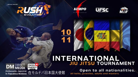 Live: International Jiu Jitsu tournament RUSH EVOLUTION | Moldova 10.11.2019