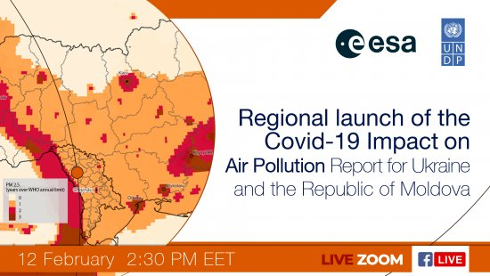 Live: Covid-19 Impact on Air Pollution Report for Ukraine and the Republic of Moldova 12.02.2021